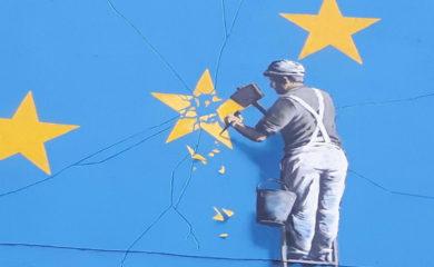 Brexit mural by Banksy