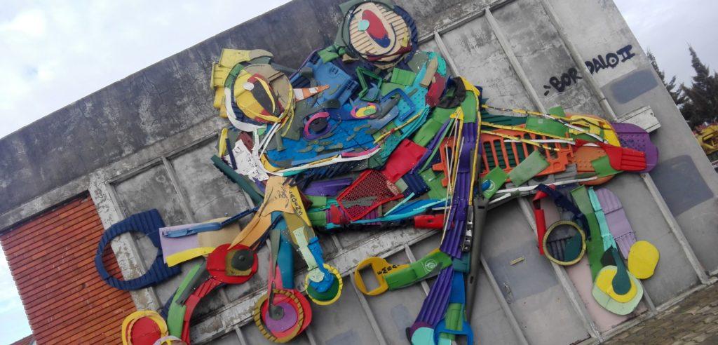 Frog street art