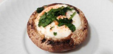 Cheese stuffed mushroom