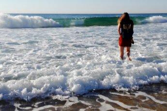 Rima in the ocean