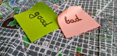 Sticky notes with choices