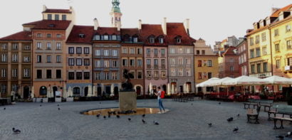 Square in Warsaw Old Town