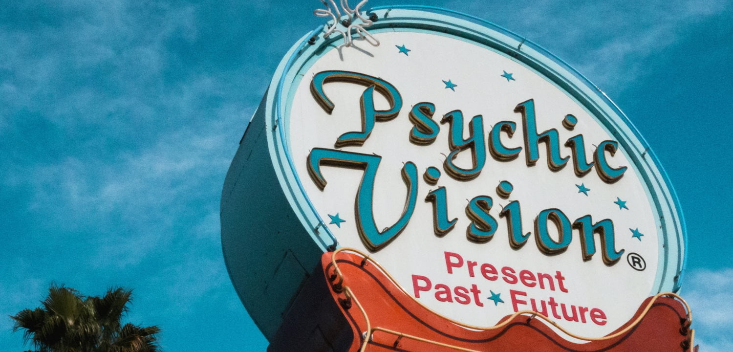 'Psychic Vision' sign