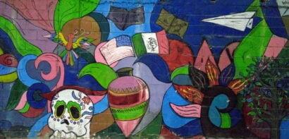 Painted wall in Tijuana
